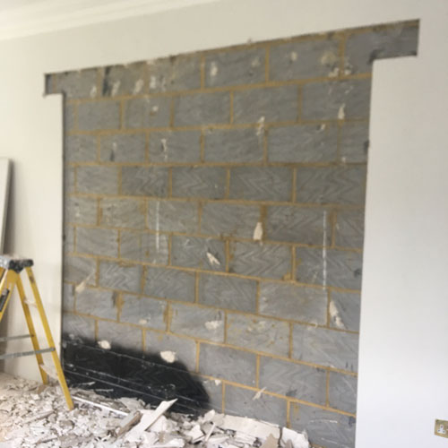 case study refurbishment - creating an opening step 1