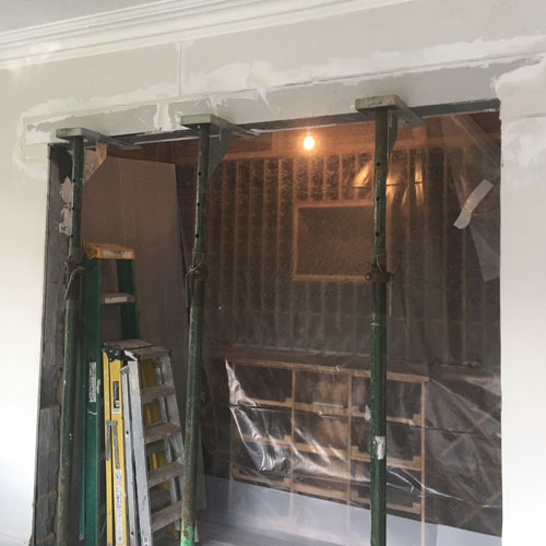 case study refurbishment - creating an opening step 3