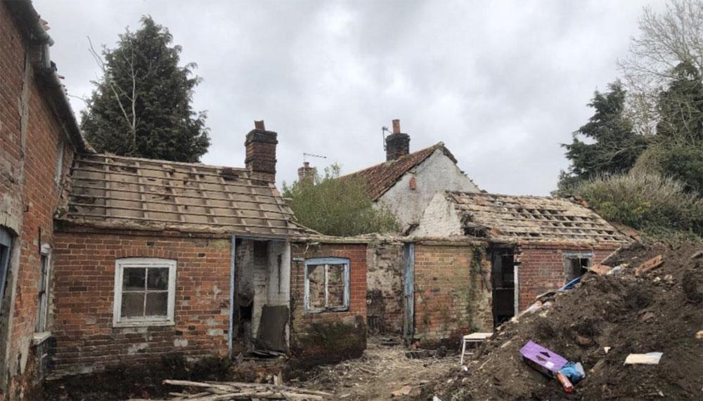 property renovation - before