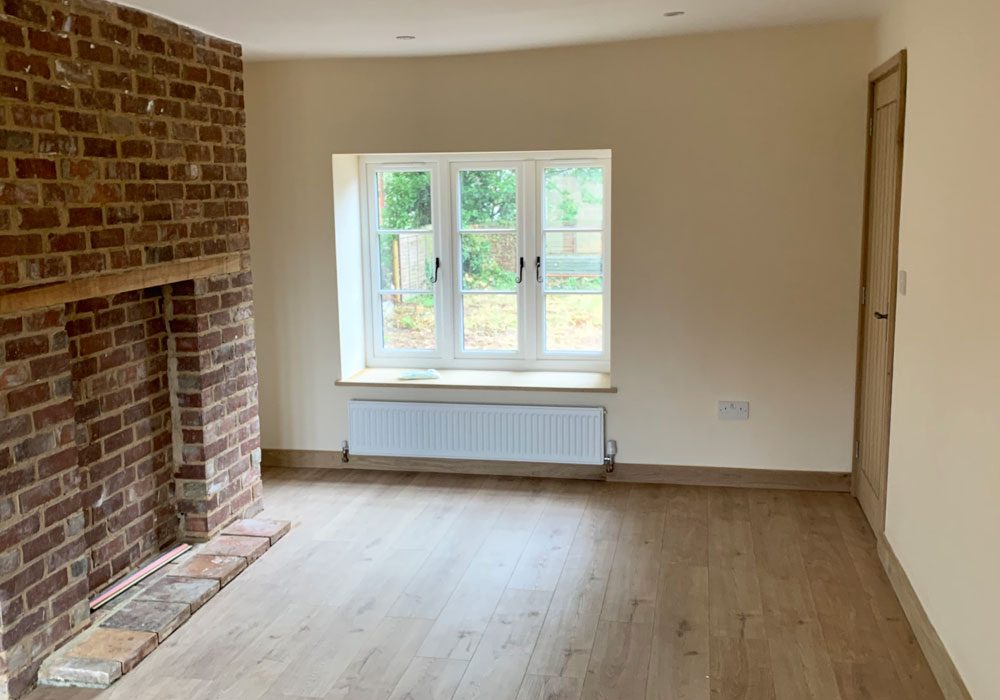 property refurbishment, Norfolk - living room