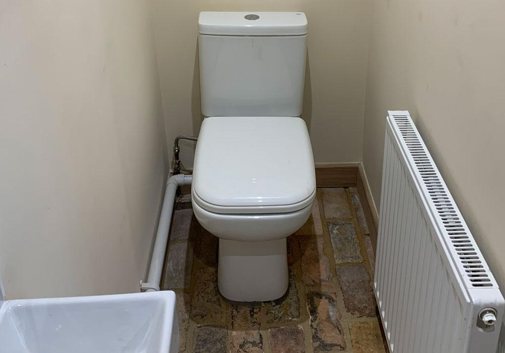 property refurbishment, Norfolk - toilet
